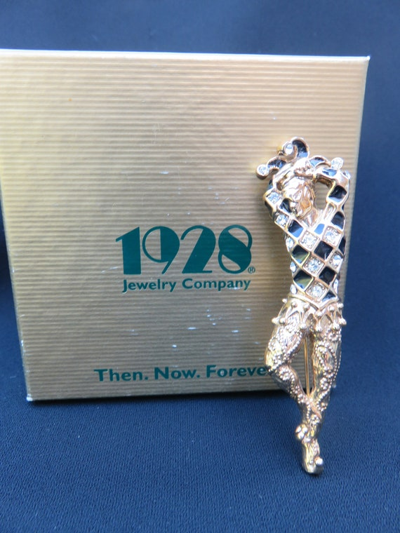 Harlequin Jester 1928 Jewelry Co Brooch