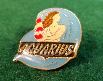 4f97fa5c2cd Aquarius Enamel Pin for Trucker Cap