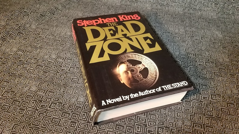 The Dead Zone Stephen King, Hardcover Edition with Dustjacket, Horror Novel  , Isbn# 0-670-26077-0, Christopher Walken, ESP - 1979