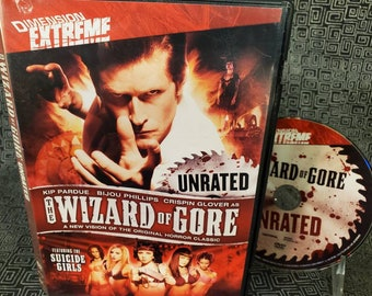 The Wizard Of Gore DVD Grindhouse Movie - Dimension Extreme - Crispin Glover and The Suicide Girls