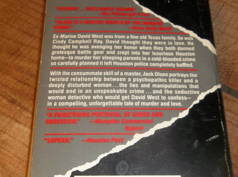 Jack Olsen COLD KILL Texas Parent Killer Ex-Marine David West, Paperback  Book, 1987, Author of DOC, Murder True Crime