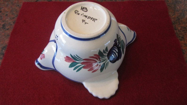 Vintage  Gravy Boat from the famous Quimper French Faience Pottery