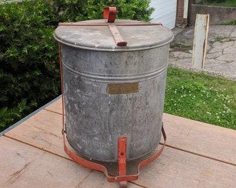 Vintage Justrite Safety Step Waste Can