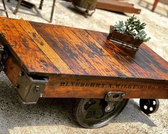 Factory Cart Table Etsy