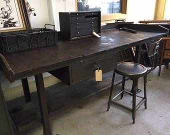 Vintage Factory Workbench