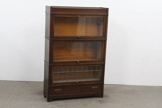 Globe Wernicke Barrister Bookcase 3 Shelf With Drawer