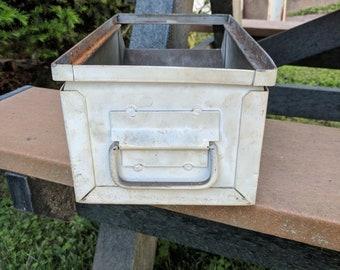 Steel Storage Parts Bin Planter Stackbin Hopper box White