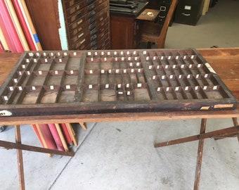 Hamilton MFG Co. Letterpress Typeset Drawer '25' USPS