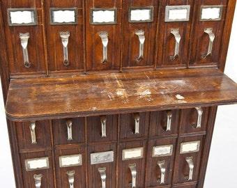 Wooden Vertical Filing Cabinet 36 Drawer