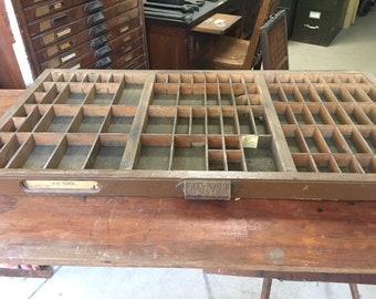 Hamilton MFG Co. Letterpress Typeset Drawer '38' USPS