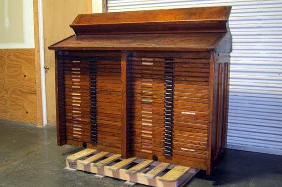 Hamilton Printers Type Cabinet 48 Drawer | Etsy