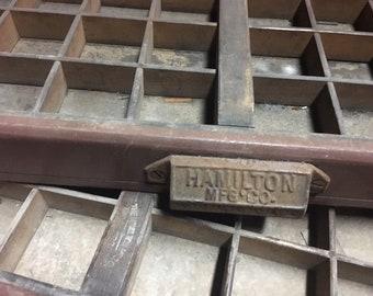Hamilton MFG Co. Letterpress Typeset Drawer '53' USPS
