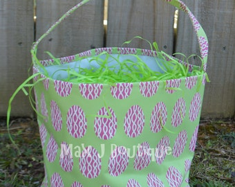 Personalized Easter Bucket-Green Egg