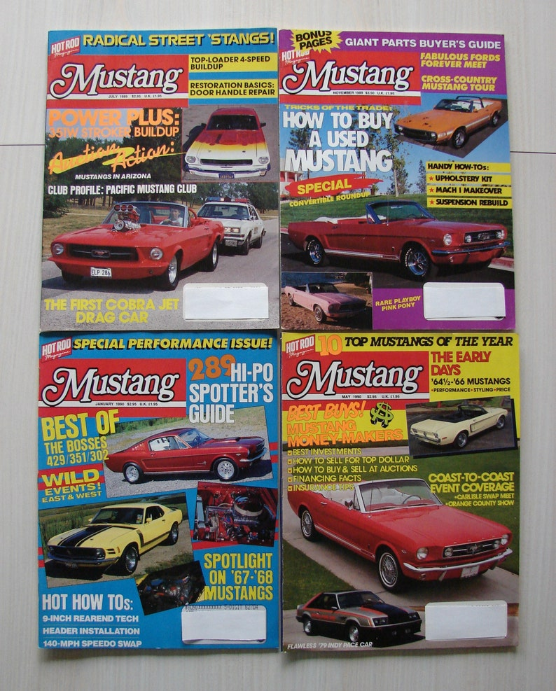 Mustang Magazine/Hot Rod Mustang Magazine – Lot of Four 1989-1990