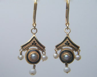f3388bf192d RESERVED     Antique Pearl Earrings