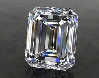 EMERALD Cut Moissanite SUPERNOVA Loose Gemstones Colorless Step Cut Moissanite Large Sizes Free Shipping Moissanite Engagement Ring