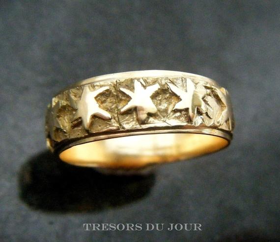 Gold Star Wedding Ring Poesie Ring Medieval Poesy Ring Star Etsy