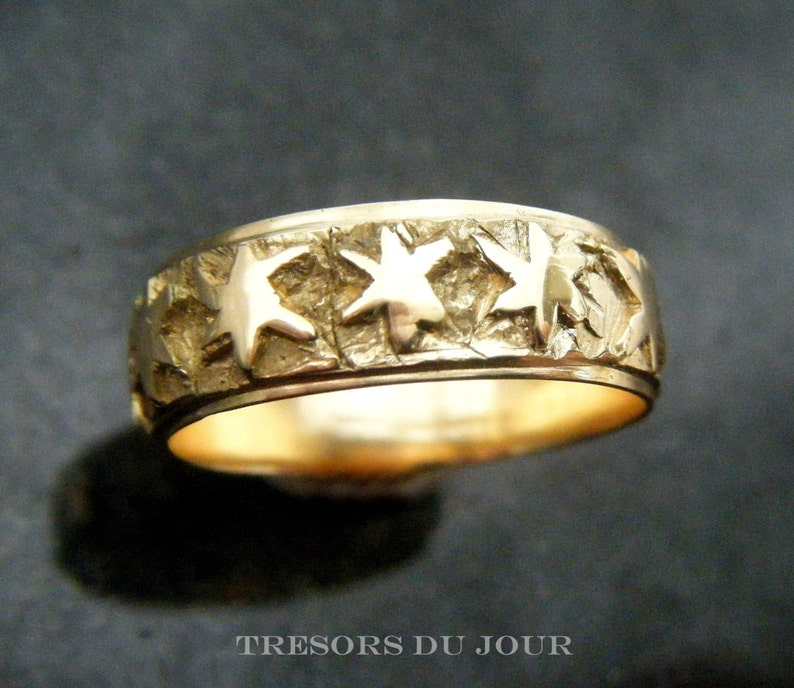 Gold Star Wedding Ring Poesie Ring Medieval Poesy Ring Star Shaped Gold Ring Eastern Star Ring Jewish Star Ring Medieval Gold Ring Custom