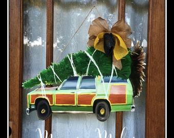 christmas door hanger station wagon door hanger christmas vacation door hanger griswold family christmas tree christmas tree door hanger