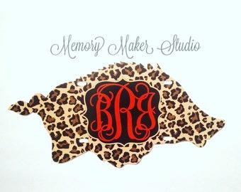 Arkansas Razorback Woo Pig Sooie car tag, Leopard Print Monogrammed Car Tag, Personalized License Plate Frame, cheetah print car tag