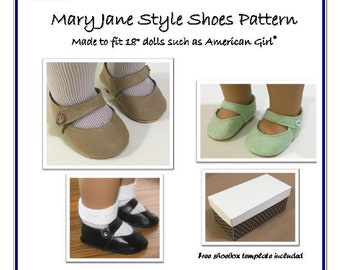 a5088ac872882 Mary Jane Shoe pattern made to fit Slim 16 dolls such as | Etsy