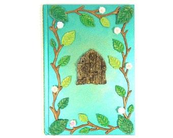 Green Fairy Journal Fairy Door Notebook Diary Fairies Magical Book Fairy Diary Handmade Fairy Notebook Fairy Sketch Book