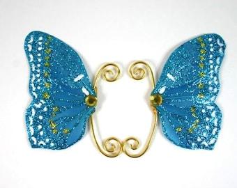 Blue Fairy Earwings Ear Wings Earcuffs Fairy Wings Butterfly Wings Costume Wings Blue Glitter Fairy Ears