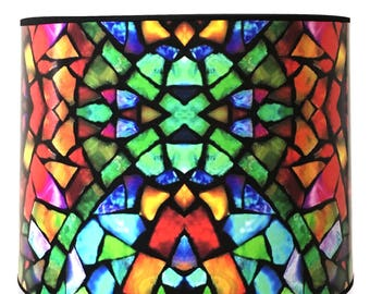 Stained glass lamp shade etsy aloadofball Image collections