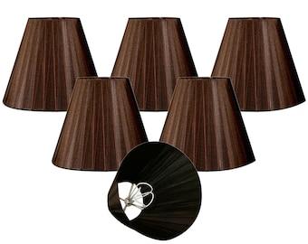 Organza lampshade etsy royal designs brown organza empire chandelier lamp shade 3 x 6 x 45 clip on aloadofball Choice Image