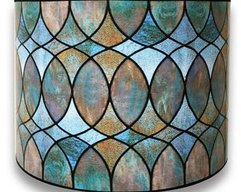 Lamp shade etsy royal designs modern trendy decorative handmade lamp shade made in usa cool hues water color design 10 x 10 x 8 aloadofball