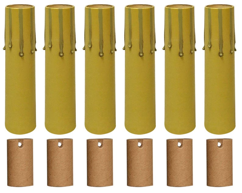 Paper Insulation Royal Designs 4 Beige Candle Drip Chandelier Socket Covers