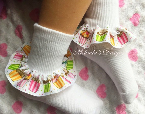 UK Baby Girl Lace Ruffled Ankle Socks School Party Sock /& Headband Baby Set Gift