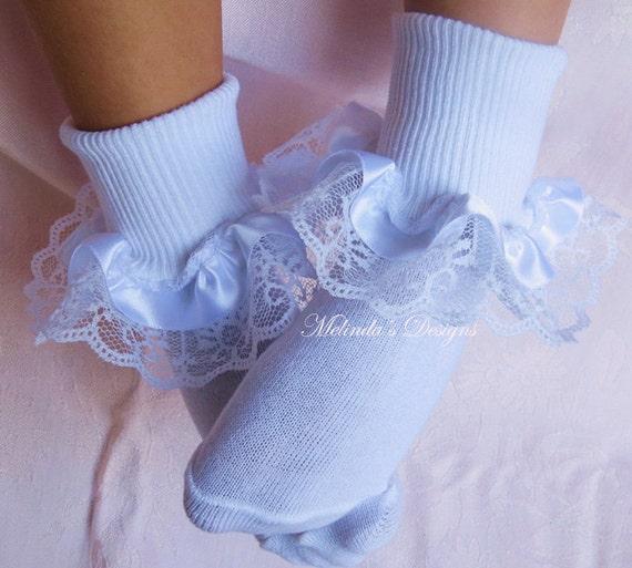 Handmade unicorn /& lace frilly socks baby//girls