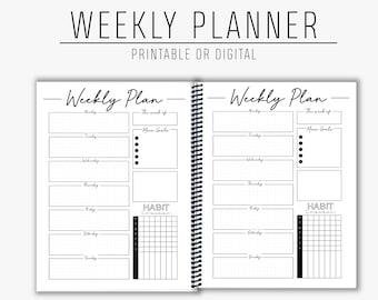 Weekly Planner - Daily Planner - Printable - Digital