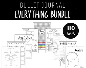 Bullet Journal Pages - Printable Template Pages - Everything Bundle Collection