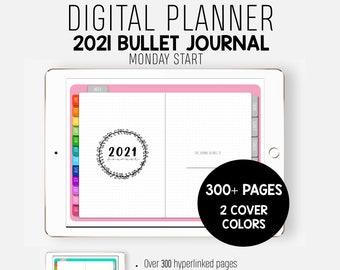 2021 Digital Bullet Journal - Digital Planner - Bullet Journal - 2021 Planner - GoodNotes - Digital Journal - Goal Planner - Monday Start