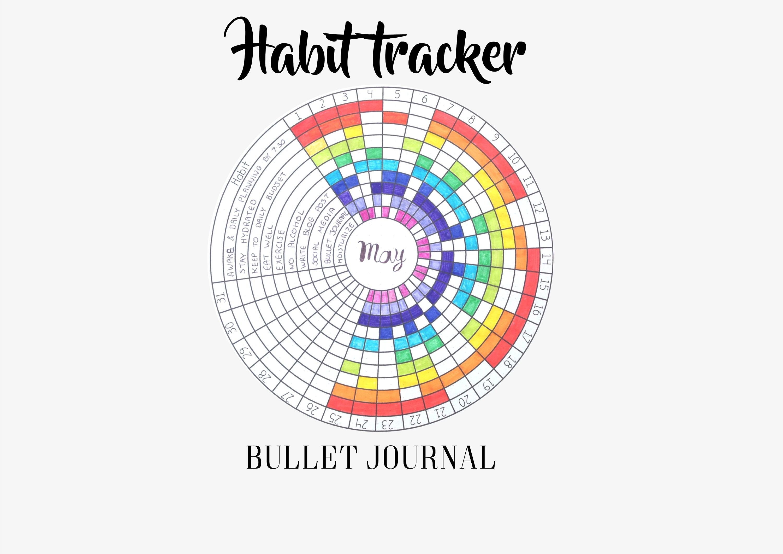 habit tracker circular bullet journal printable circle