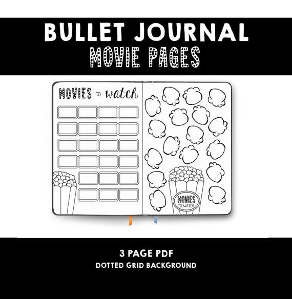 Bullet Journal Movie List Movies To Watch Film List Etsy