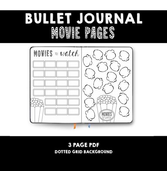 Bullet Journal Movie List Movies To Watch Film List Etsy