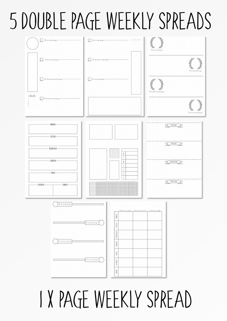 graphic regarding Weekly Printable named Bullet Magazine Weekly Templates BUJO Printable