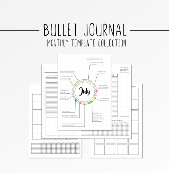 Candid image intended for bullet journal monthly spread printable