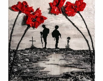 Unity is strength from the war poppy collection by remember and reflect from the war poppy collection 100 years remembered by remembrance artist jacqueline hurley military art print mightylinksfo