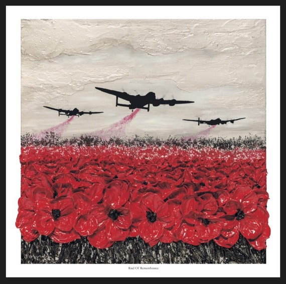 Raid of remembrance from the war poppy collection 1939 1945 etsy image 0 mightylinksfo