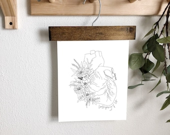 Anatomical Heart Proverbs 4:23 Wellspring of life digital print