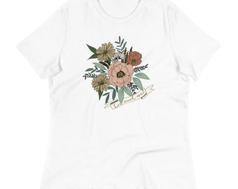 Women's Relaxed T-Shirt Floral How Much More Vintage Feel Shirt | Christian Clothing | Wear Your Faith | Consider the Wildflowers | Luke 12