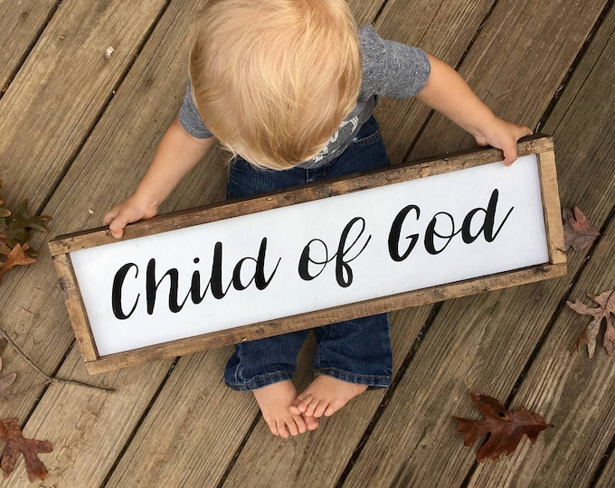 Featured listing image: Framed Wooden Sign Child of God