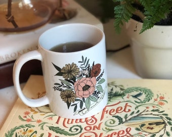 How Much More Floral Coffee Mug | Coffee Cup | Luke 12 | Consider the Wildflowers