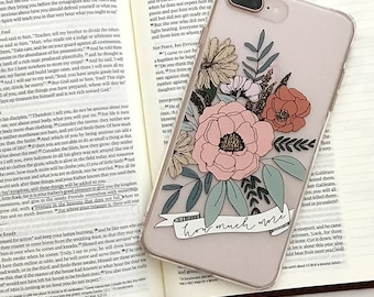 How Much More Hand Drawn Floral Design iPhone Case | Flowers | Christian Cell Phone Case | Phone Cover