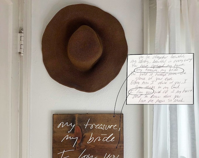 VALENTINES SPECIAL Handwritten Wooden Sign