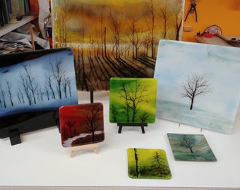 Fused Glass Tutorial Powerful Trees with Powder and Pencil
